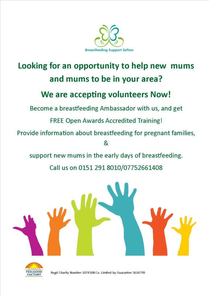 Breastfeeding - volunteer flyer