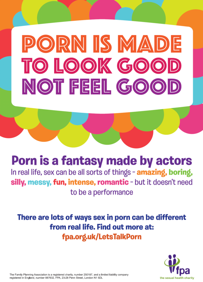 FPA Sexual Health Week - porn poster