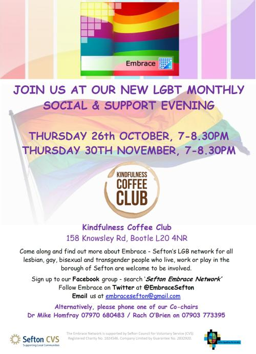 Embrace Kindfulness Cafe - Oct-Nov