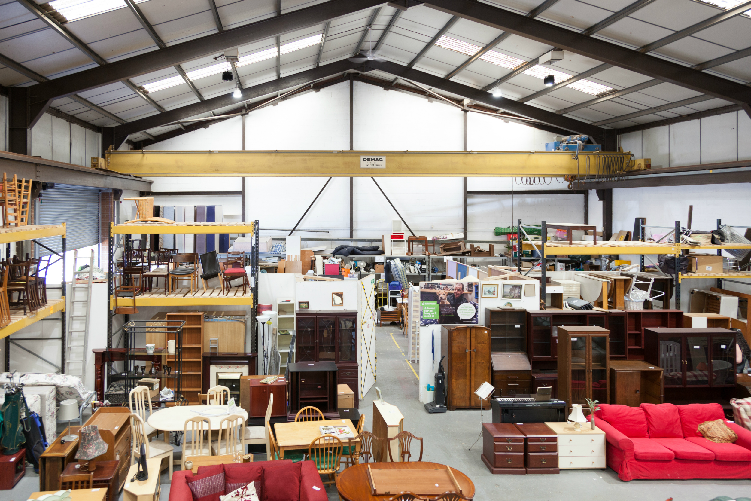 Emmaus Merseyside's Charity Superstore and workshops