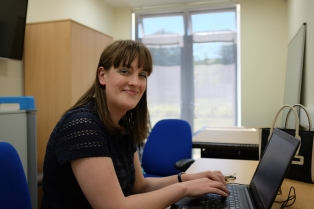 Volunteer Emily Oldnall at Emmaus Merseyside